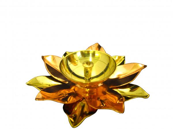 Lotus Öllampe mit Baumwolldocht
