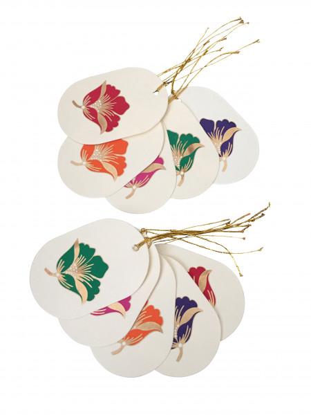 Geschenkanhänger Blume (sortiert)